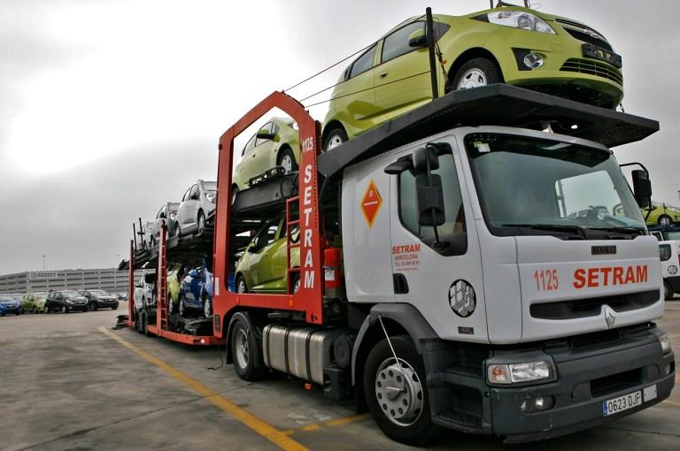 transporte vehículos España y Francia SETRAM