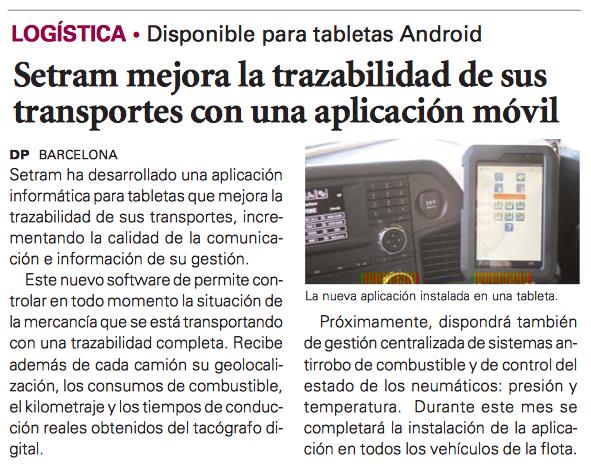 SETRAM en Diario del Puerto