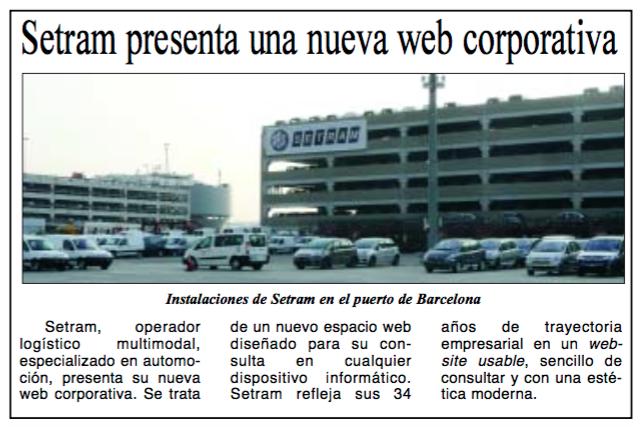Noticia SETRAM en Diario Marítimas
