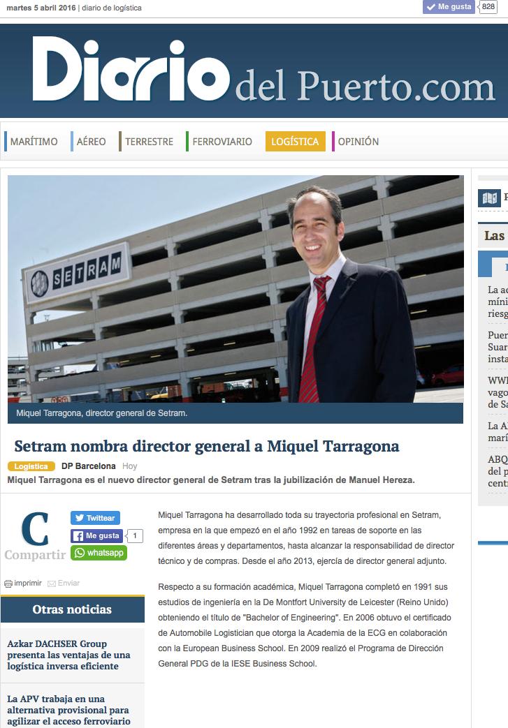 Miquel Tarragona Director General SETRAM diariodelpuerto