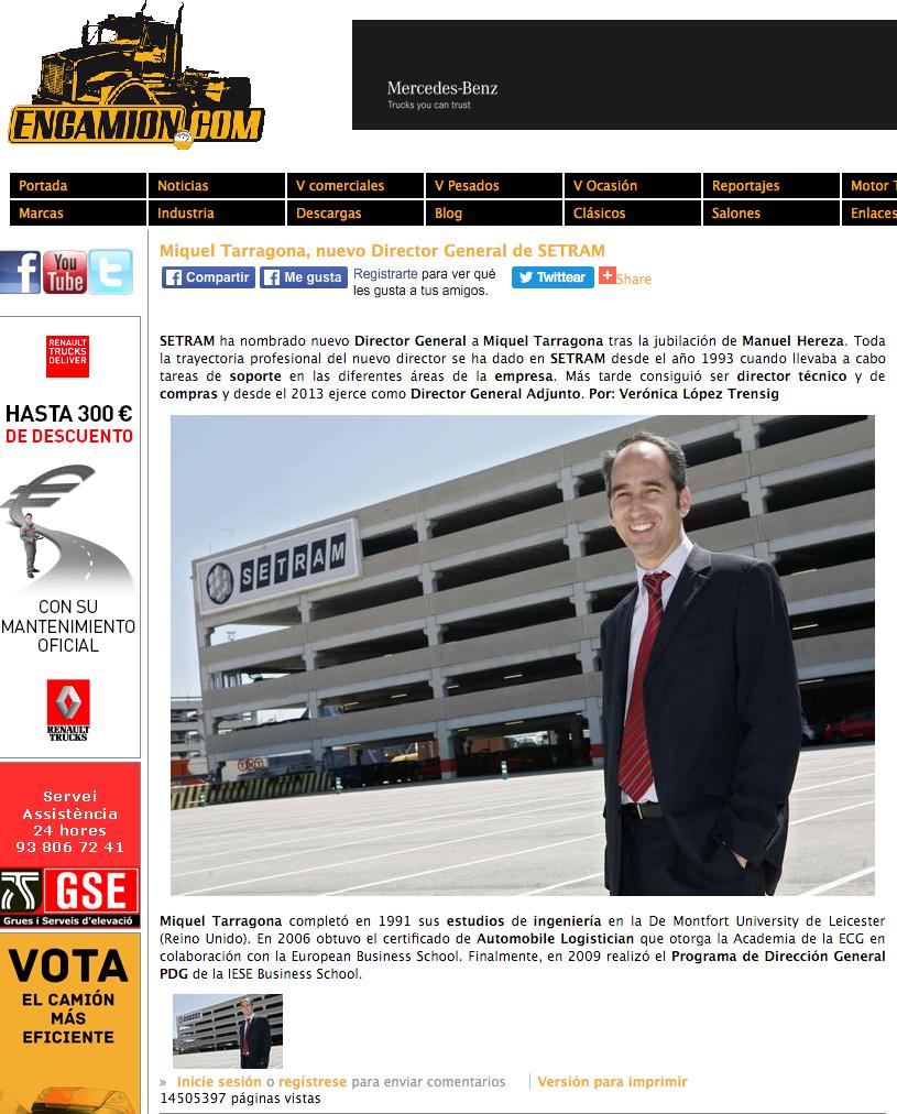 Miquel Tarragona Director General SETRAM