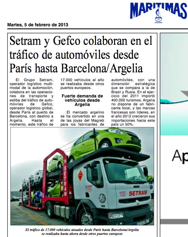 SETRAM en Diario Marítimas