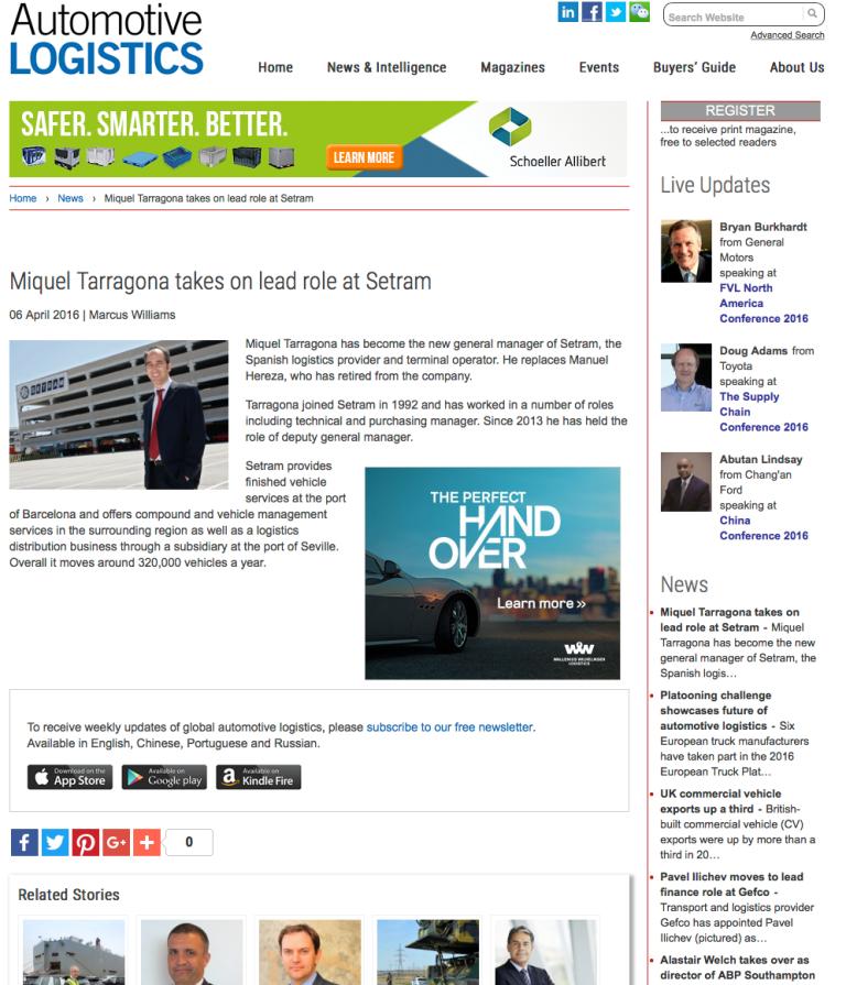 Miquel Tarragona takes on lead role at setram Miquel Tarragona Director General SETRAM
