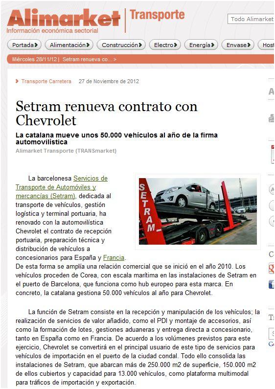 setram grupo setram logistica automocion coches automoviles puerto barcelona