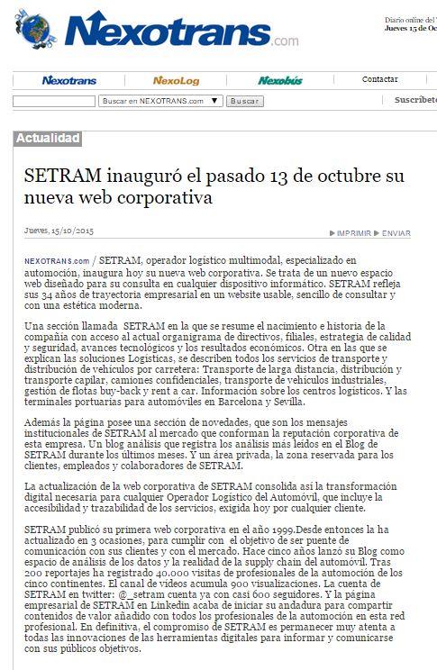 SETRAM NEXOTRANS W
