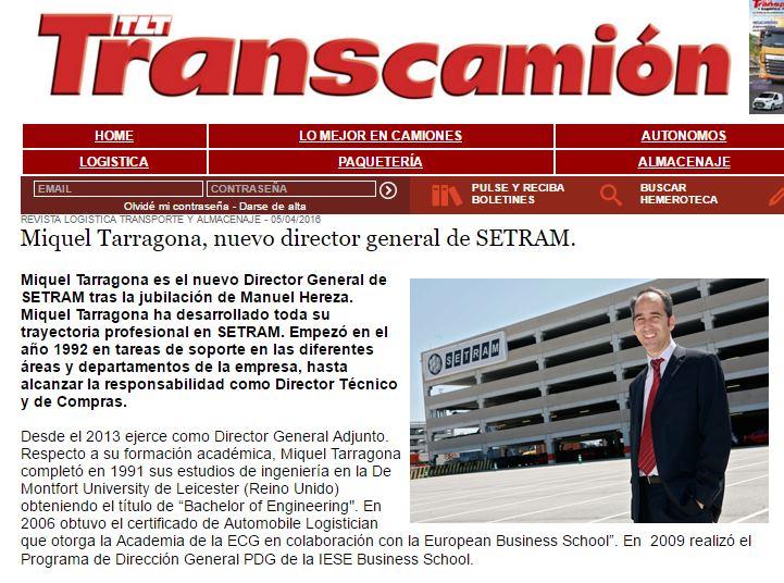 Miquel Tarragona Director General SETRAM en Transcamión