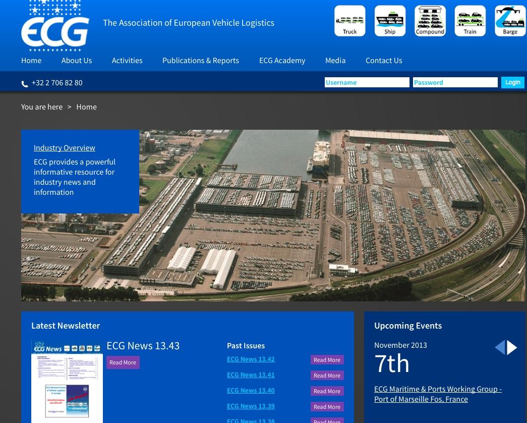 ECG Asociación Europea Logística Automóvil