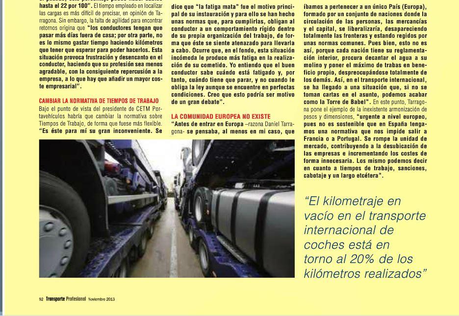 Daniel Tarragona Transporte Profesional