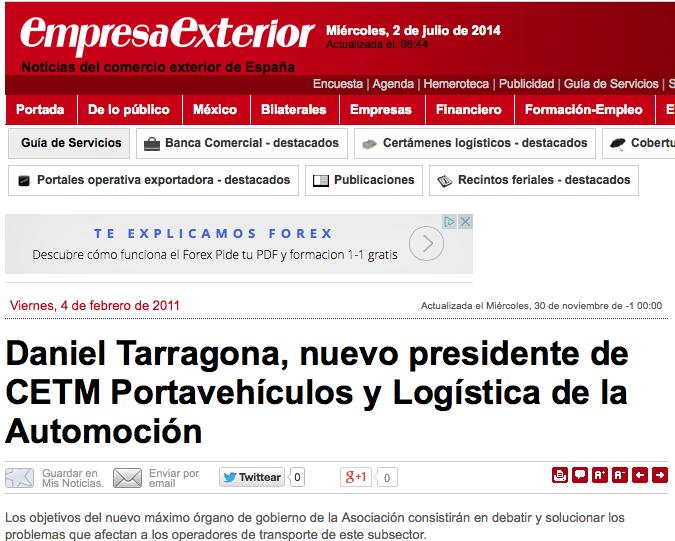 Daniel Tarragona seguirá en CETM Portavehículos