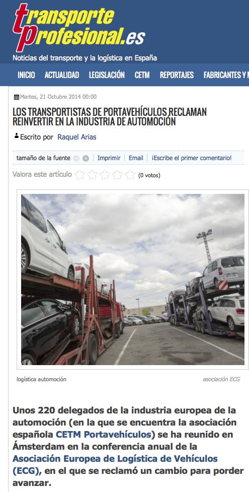 Reunión europea transportistas portavehículos