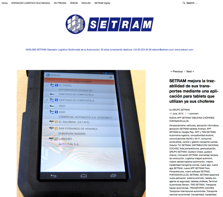 Blog Grupo SETRAM