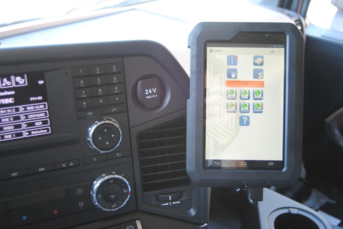 APP SETRAM Tableta en Flota Portavehículos