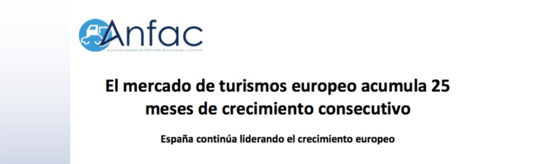 España lidera crecimiento mercado europeo turismos