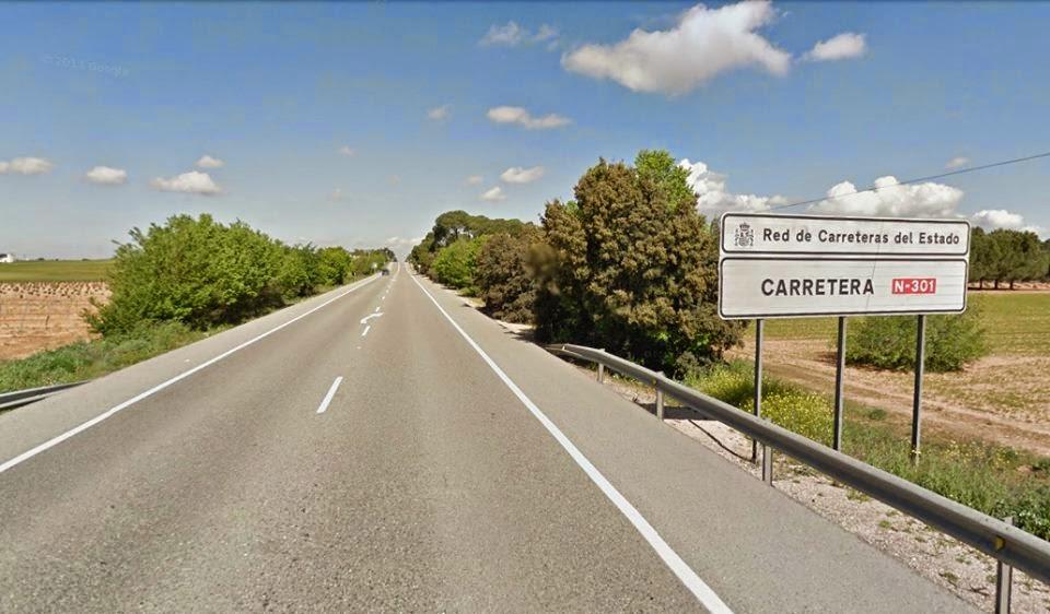 Las carreteras más rectas en España