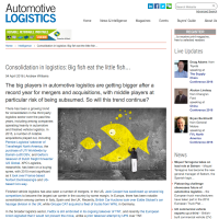 "Automotive Logistics: ""Big fish eat the little fish..."""