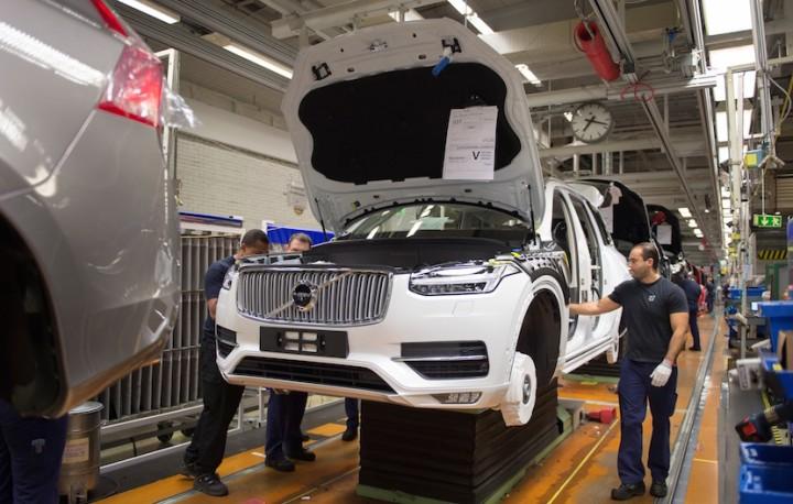 Pre-production of the all-new Volvo XC90 in Torslanda