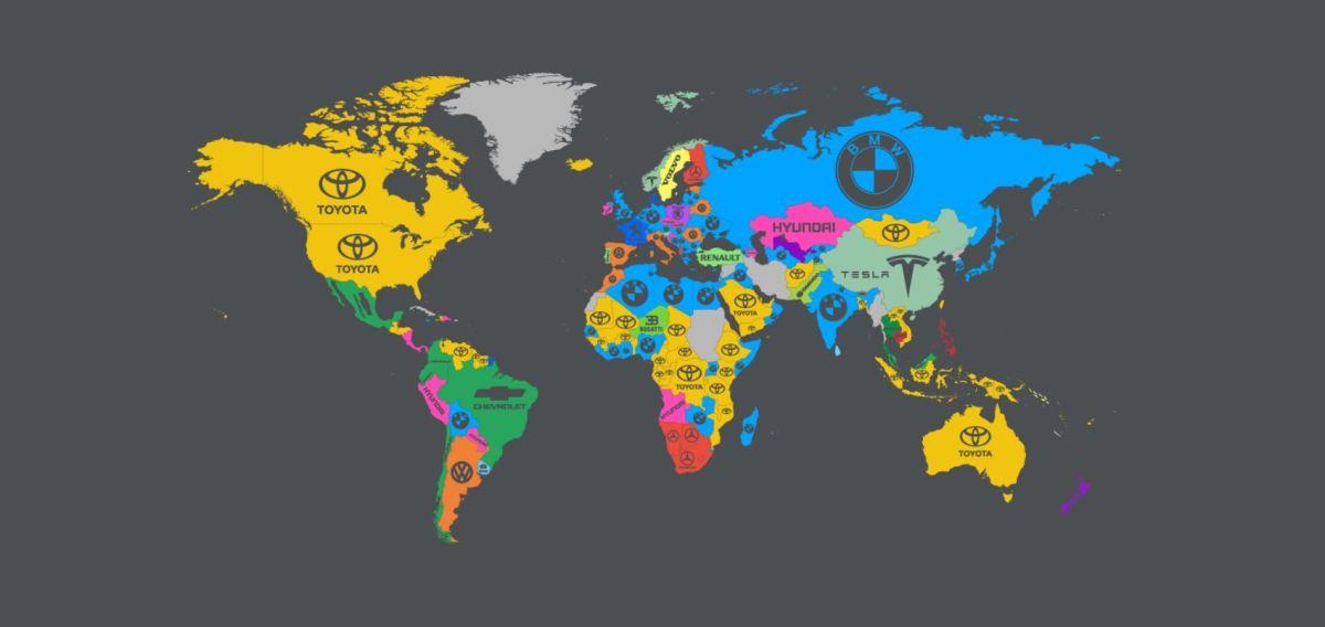 Mapa actualizado con los fabricantes mundiales de automóviles en 2017