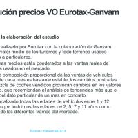 Estudio Ganvam 3º Trimestre 2017 sobre el mercado vehículo de ocasión/coches usados según la antigüedad