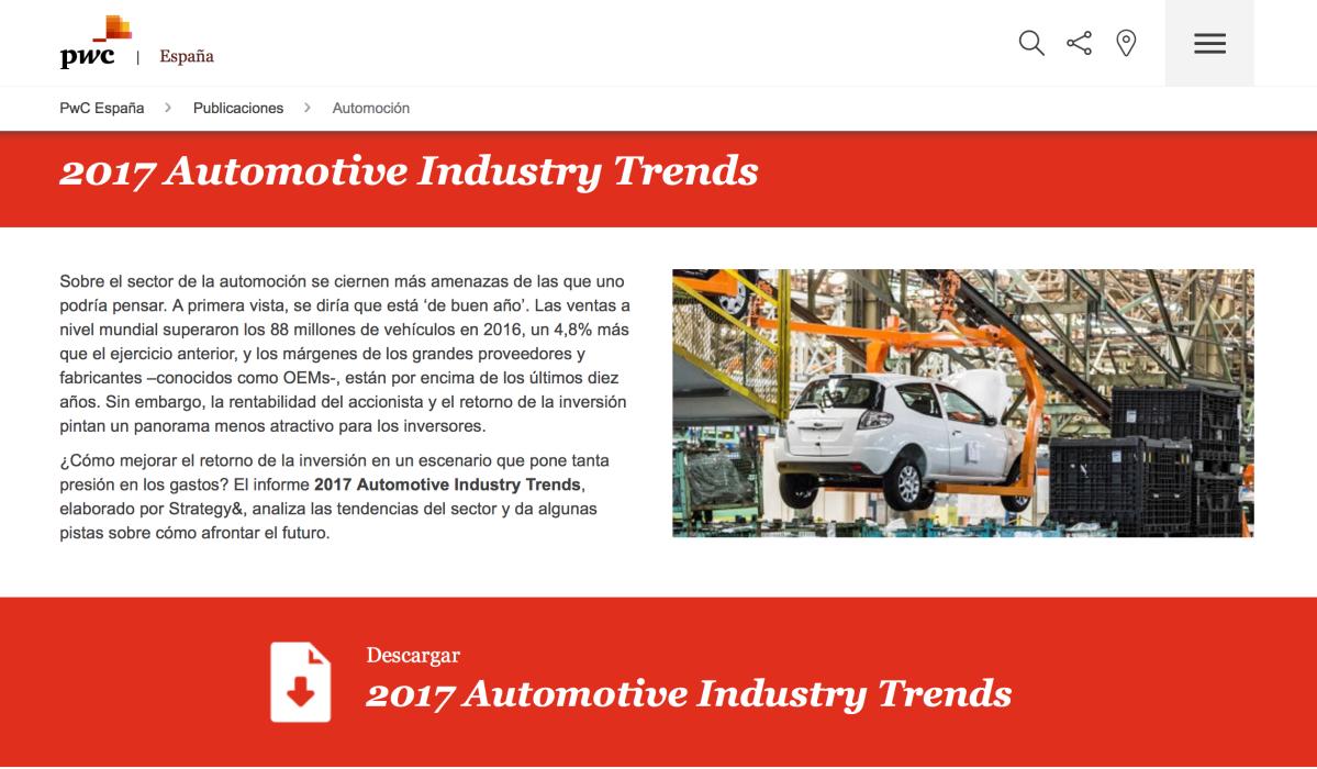 Consultora PwC: En 2030 el número de ventas anuales de coches nuevos en Europa se incrementará en un tercio a más de 24 millones de unidades