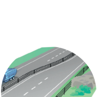Innovación de Suecia: Vías sólo de 3 carriles para hacer adelantamientos por turnos en uno y otro sentido