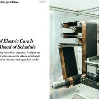 "New York Times: ""The age of electric cars may be coming sooner than expected"""